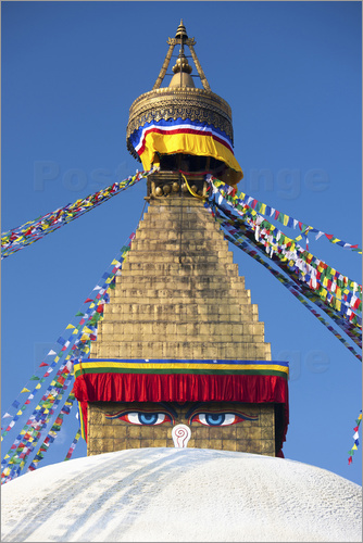 Poster Bodhnath Stupa (Boudhanth) (Boudha), one of the holiest Buddhist sites in Kathmandu, UNESCO World He