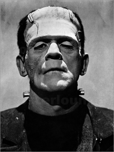 Poster Boris Karloff as Frankenstein