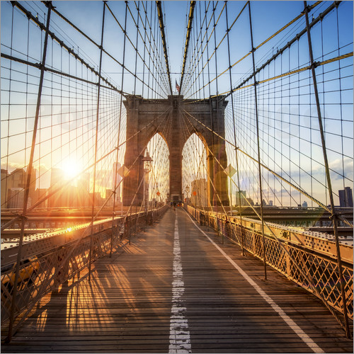 jan christopher becke brooklyn bridge in new york city poster posterlounge. Black Bedroom Furniture Sets. Home Design Ideas