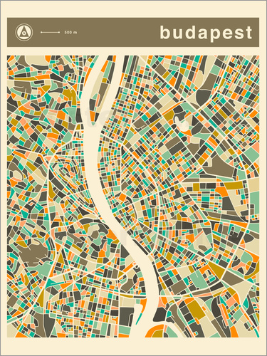 Poster BUDAPEST MAP