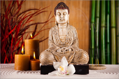 Buddha with candle