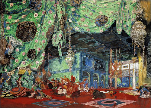 Leon Nikolajewitsch Bakst - Set design for 'Scheherazade' by Rimsky-Korsakov