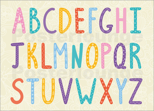 Poster Colorful ABC letters