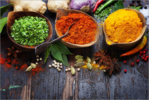 Poster Colorful spices diversity