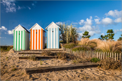 Christian Müringer - Colorful beach huts in Brittany (France)