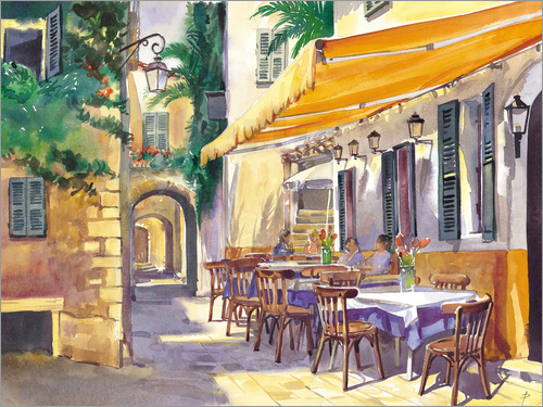 Poster Cafe Provence