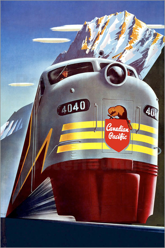 Poster Canadian Pacific train