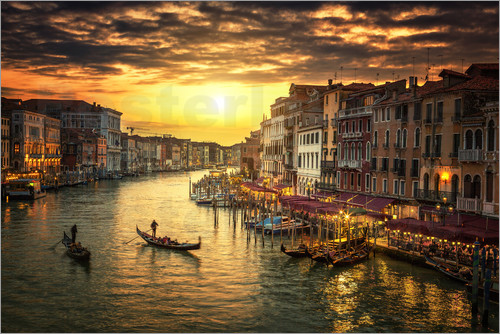 Poster Grand Canal at sunset