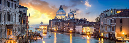 Poster Canal Grande panorama in Venice, Italy