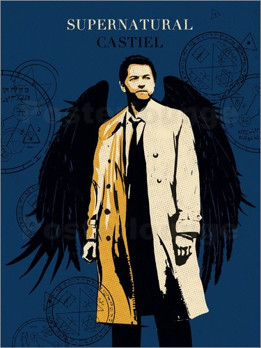 Golden Planet Prints - Alternative Castiel Supernatural art print