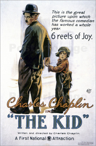 Poster Chaplin: The Kid, 1920