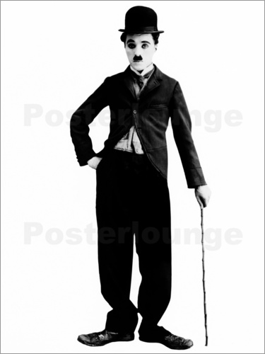 Poster Charlie Chaplin with walking stick