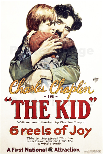 Poster Charlie Chaplin - The Kid, 1921
