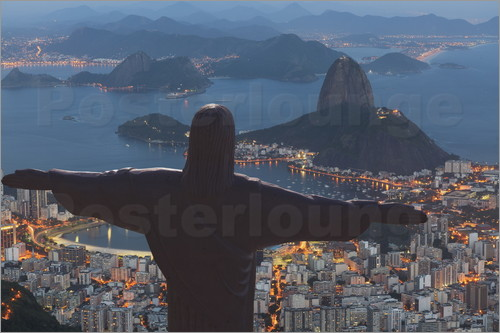 Poster Christ the Redeemer, Corcovado