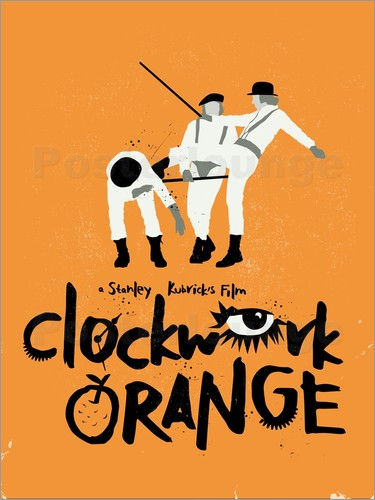 Golden Planet Prints - Clockwork orange movie inspired art print