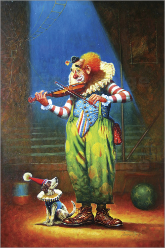 Petar Meseldzija - Clown and dog