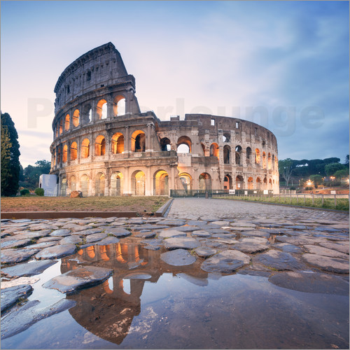 Poster Colosseum reflected into water