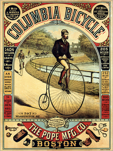 Poster Columbia Bicycles