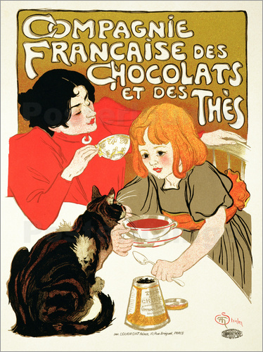 Théophile-Alexandre Steinlen - French Company of Chocolate and Tea