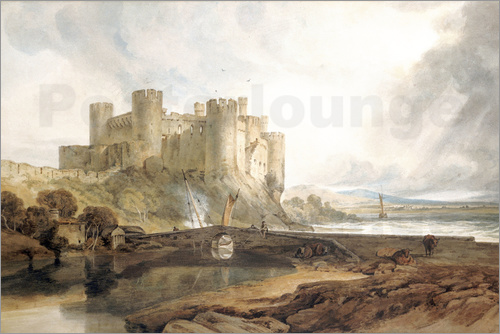 Poster Conway Castle, c.1802