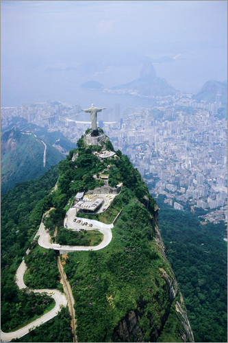 Poster Corcovado Mountain with Christ the Redeemer Statue