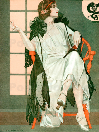 Clarence Coles Phillips - Lady writing