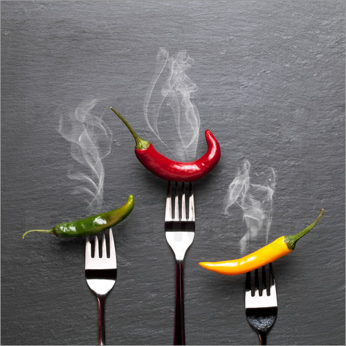 pixelliebe - steaming colorful chili peppers