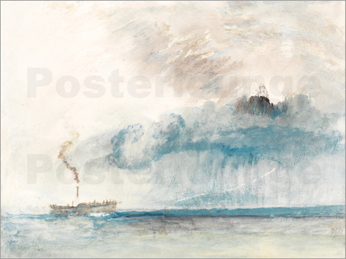 Joseph Mallord William Turner - Steamboat in a Storm