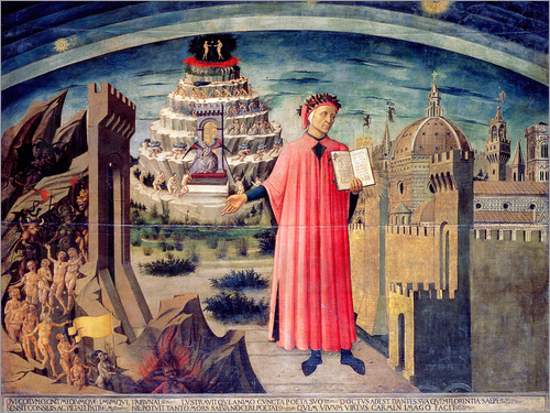 Domenico di Michelino - Dante and his poem the Divine Comedy