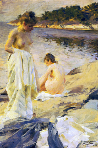 Anders Leonard Zorn - The bathroom
