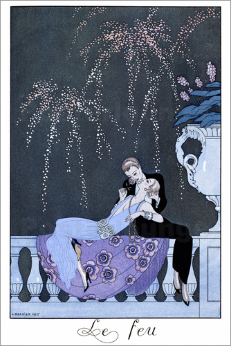 Georges Barbier - The Fire