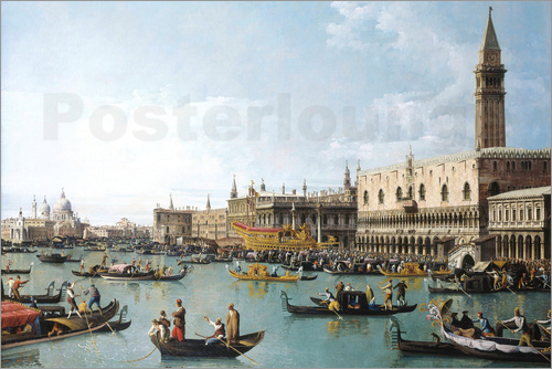 Poster The basin of San Marco on Ascension Day
