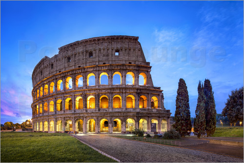 Poster The Colosseum in Rome, Italy