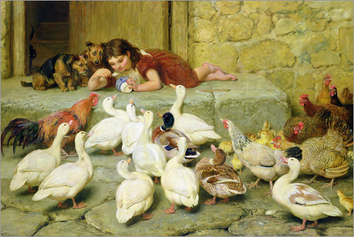 Briton Riviere - The Last Spoonful