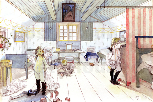 Carl Larsson - Mamma's and the Small Girl's Room