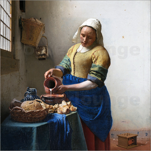 Jan Vermeer - The Milkmaid
