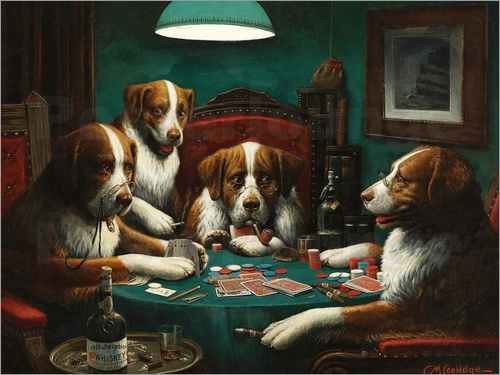 Poster The poker game