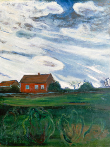 Edvard Munch - The Red House