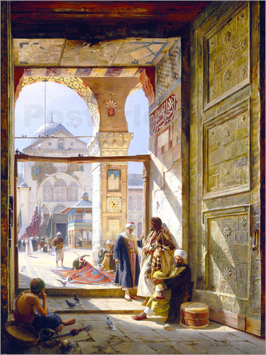 Gustave Bauernfeind - The goal of the great Umayyad Mosque in Damascus