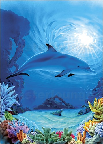 Poster Camouflage dolphins