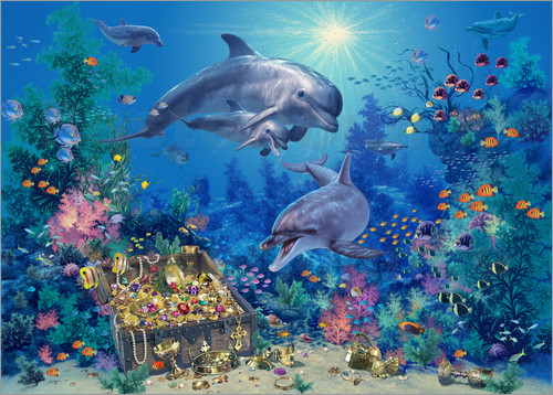 Poster Dolphin Family