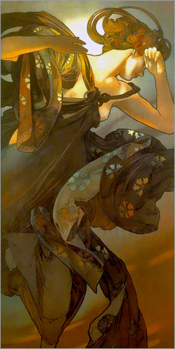 Alfons Mucha - The evening star