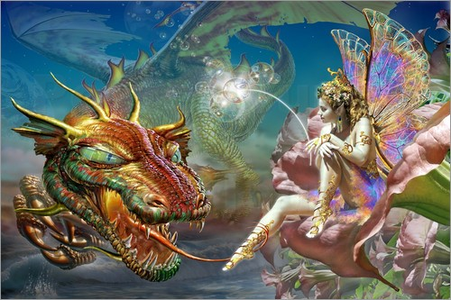 Adrian Chesterman - The dragon and the fairy