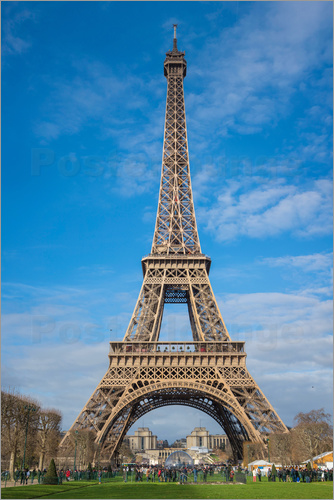 Poster The Eiffel Tower of  Paris