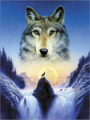 Poster Cosmic wolf