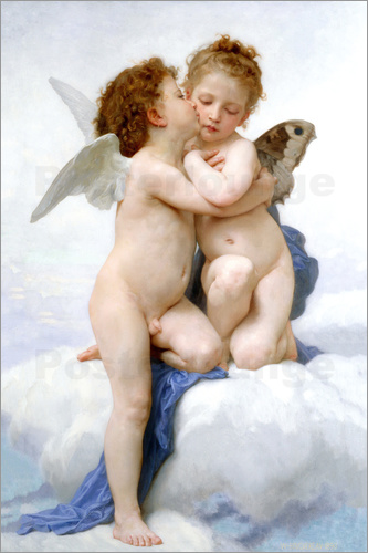 William Adolphe Bouguereau - The First Kiss
