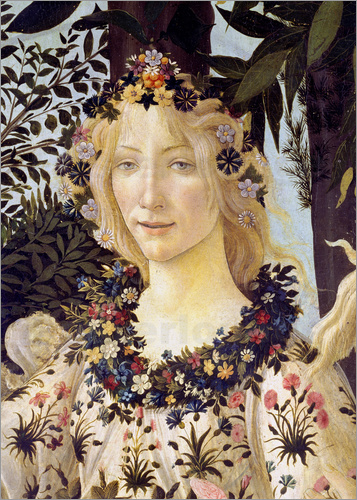 Sandro Botticelli - The spring, the head of the Flora