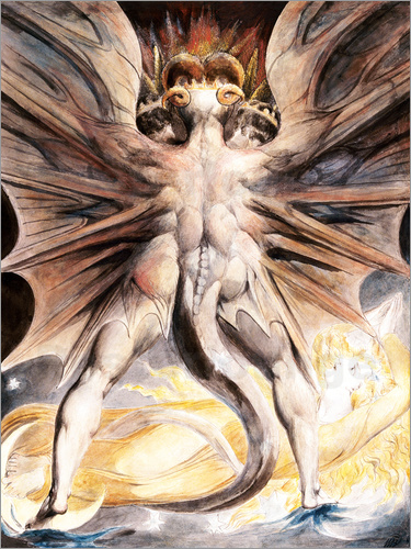 William Blake - Clothed The Great Red Dragon and the Woman with the Sun