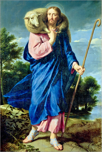 Philippe De Champaigne The Good Shepherd Poster Posterlounge