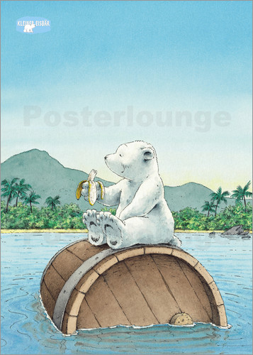 posters affiches de the little polar bear all banana posterlounge. Black Bedroom Furniture Sets. Home Design Ideas